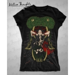 Shirt: Daughter of the Serpent - Ladies V-Neck LARGE