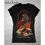 Shirt: Midvinter Rune -  Ladies V-Neck Small