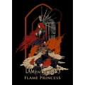Shirt: Flame Princess -  Ladies V-Neck SMALL