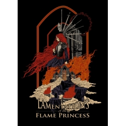 Shirt: Flame Princess -  Ladies V-Neck LARGE